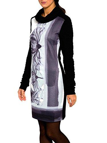 Smash Genova Vestido con Cuello Alto-A1682306, Vestaglia Donna, Nero, M