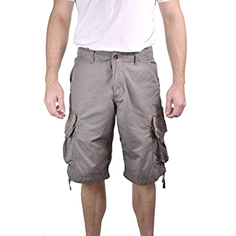 Mens Zipped Railers Cargo Shorts 55001 - 100% Lightweight Cotton