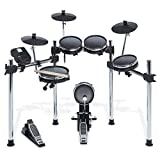 Alesis - Surge Mesh Kit - Achtteiliges E-Drum Kit mit Mesh Heads Chrom Rack und Surge Drum Modul inklusive 40 Kits 385 Sounds 60 Play-Along Tracks und USB/MIDI Konnektivität
