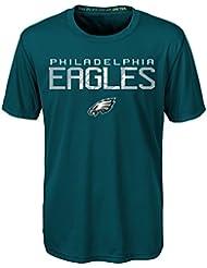 """Philadelphia Eagles Youth Jeunes NFL """"Helix"""" Performance Short Sleeve T-Shirt Chemise"""