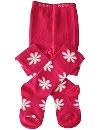 """Weri Spezials Collants pour Enfants. Couleur: Pink, """"Fleurs"""""""