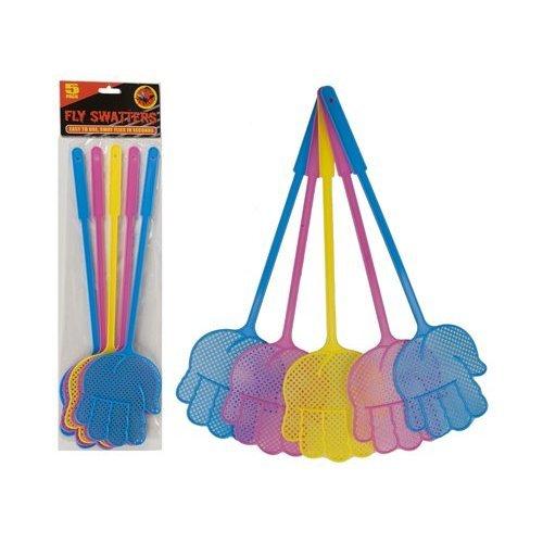 42 cm lange 5 Pack Hand geformte Fliegenklatschen - 3 Farben