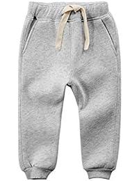 Pantalones de Jogging Niños Niñas Casual Pantalón Largo de Deporte