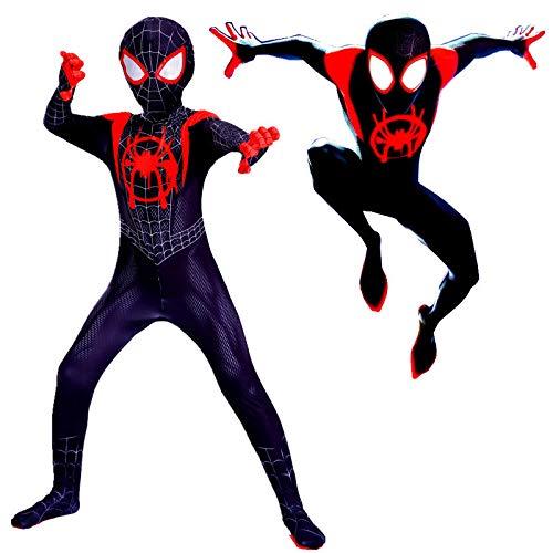 Black Spider Spider Siamese Tights Avengers Costume Adulto per Bambini Halloween Costume Cosplay (copricapi Possono Essere Separati),Child-S