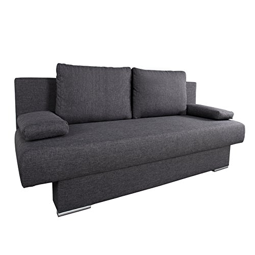 BARCLAYS Design Schlafsofa  in anthrazit