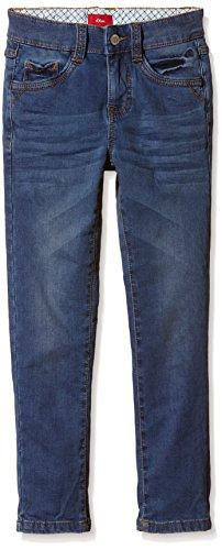 s.Oliver Junior Jungen Jeanshose 5 - Pocket, Gr. 128, Blau (blue denim stretch 55Z2)