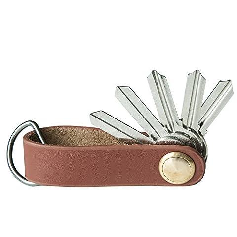 Kompakt Schlüssel Organizer Leder bis 6 Schlüssel mit Geschenkbox, Braun (Craft Geschenkboxen)