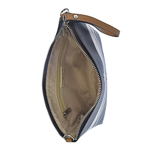 U.S.POLO ASSN. Borsa pochette con tracolla 26.5x3x17.5 cm Nero - Bianco