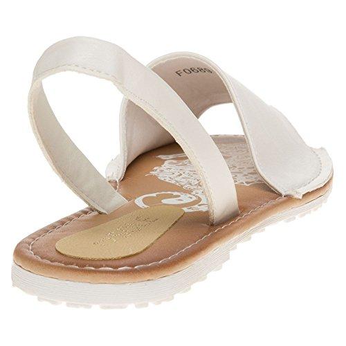 Sole Yeast Damen Sandalen Weiß Weiß
