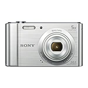 Sony DSC-W800 Digital Compact Camera (20.1 MP, 5x Zoom, 2.7 LCD, 720p HD, 23 mm Sony G Lens) - Silver