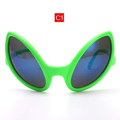 CCGKWW Brille Lustige Alien Eyes Sonnenbrille Männer Kostüm Maske Neuheit Brille Frauen Party Supplies (Männlich Pilot Kostüme)