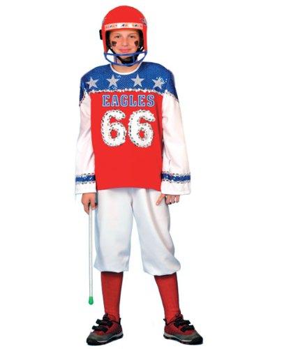 Kostüm New York Football Kind Junge Größe 140 Kinderkostüm Sportler Amerika Karneval Fasching (School Motto Kostüme High Party)