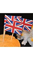 Banggood ELECTROPRIMEBaosity 50x Britain Country Flag Picks Paper Toothpick Food Cupcake Cocktail Decor