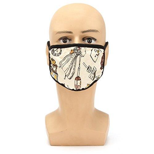 Wooya Máscara De Polvo Caliente Motocicleta Impresa Anti Frío Máscaras Masculinas Y Femeninas