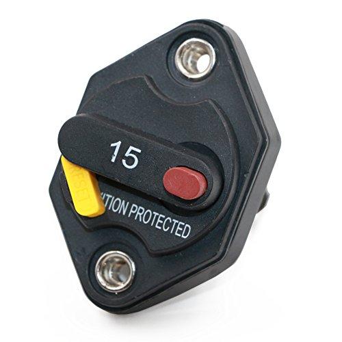T Tocas Inverter Fusible étanche avec bouton de réinitialisation manuelle 12 V-32vdc 15 à