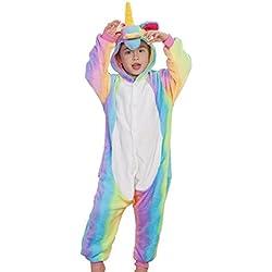 fec24c1e00 Pigiama o Costume di Cosplay Party Halloween Bambini Sleepwear Animali di  Carnevale Onepiece Intero Unicorno Regalo
