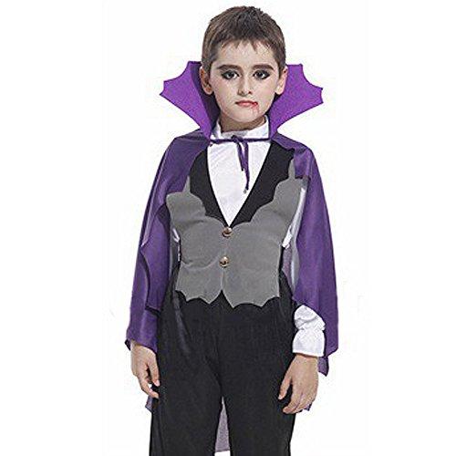 Lila Fledermaus Umhang Halloween-Vampir Günstige Kids (Vampir Günstige Umhänge)