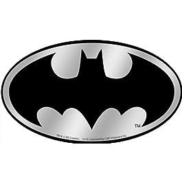 DC Comics Batman Logo Chrome cromo STICKER ADESIVO, Officially Licensed Artwork, 2.85″ x 5″ – Long Lasting Sticker DECAL