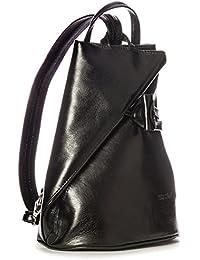 Big Handbag Shop - Bolso mochila  de cuero para mujer One