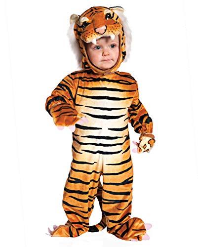 Horror-Shop Tiger Faschingskostüm für Kleinkinder & Babys L
