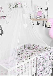 Bumper 3PC Size 135x100cm to FIT COTBED 140x70cm Garden Flowers Baby Bedding Set Pillowcase Duvet Cover