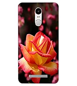 ColourCraft Rose Flower Design Back Case Cover for XIAOMI REDMI NOTE 3 PRO