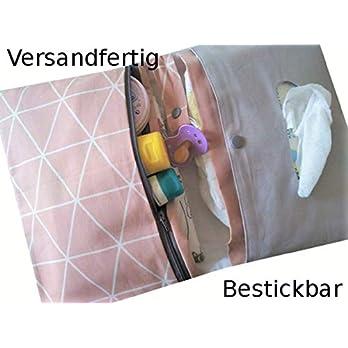 Windeltasche/Wickeltasche/Bestickbar/Versandfertig/Wickeltasche XXL/Windeltasche handmade/Windeltasche mit Namen