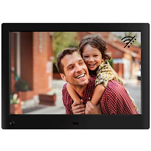NIX Advance Digitaler Bilderrahmen 10 Zoll. HD IPS Display. Fotos und Videos. Uhr/Kalender. Auto On/Off (Bewegungssensor). Auto Drehung. Intuitive Fernbedienung. Inkl. 8GB USB-Stick - Link-20-batterie-monitor