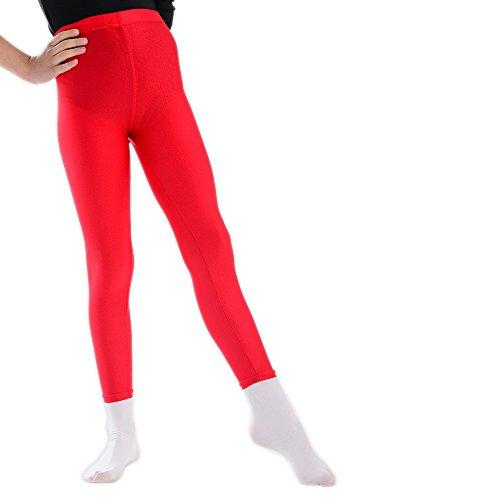 adam & eesa 1 oder 3 Paare Hochtaillierte Disco Leggings für Kinder 5 bis 12 Jahre-Blau Pink Rot oder Schwarz -