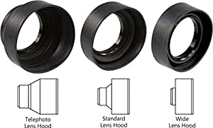 Sonia 3 in 1 Rubber Lens Hood 77mm for Canon Nikon Sony Olympus Pentax & All Other Digital SLR Cameras