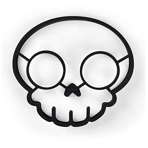 KOMEISHO Halloween Persönlichkeit Silikon Spiegelei Formen Nette Form Packung 2 Stücke Ei Ring Pfannkuchen Shaper Küche Kochen Bäckerei Werkzeuge Schwarz Farbe