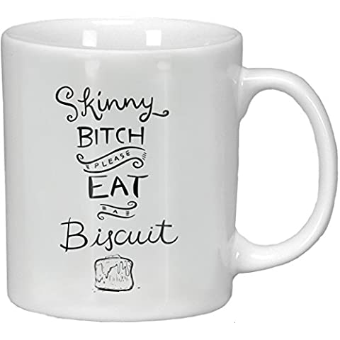 Primitives By Kathy Whimsical Coffee Mug Skinny Bitch Please Eat a Biscuit by Primitives By Kathy