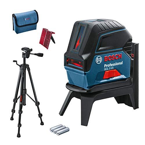 Bosch Professional - 06159940FV Punkt-/roter laser GCL 2-15 und BT150 Building Tripod