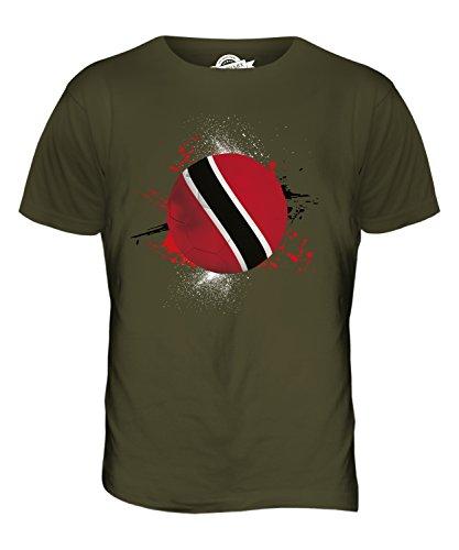 CandyMix Trinidad Und Tobago Fußball Herren T Shirt Khaki Grün