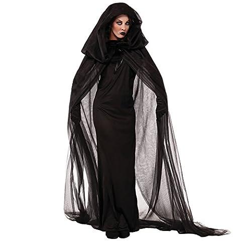 Cosfun Damen Kostüm für Karneval Halloween Zombie Braut Halloween Vampir Kostüm Dress Set