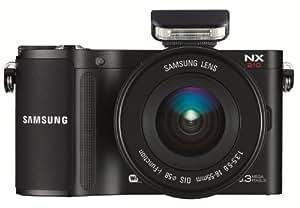 Samsung NX210 Kompakte Systemkamera (20,3 Megapixel, 7,6 cm (3 Zoll) AMOLED-Display, Full HD, Panorama, bildstabilisiert) inkl. 18-55mm F3.5-5.6 OIS III (Metal Mount) Objektiv