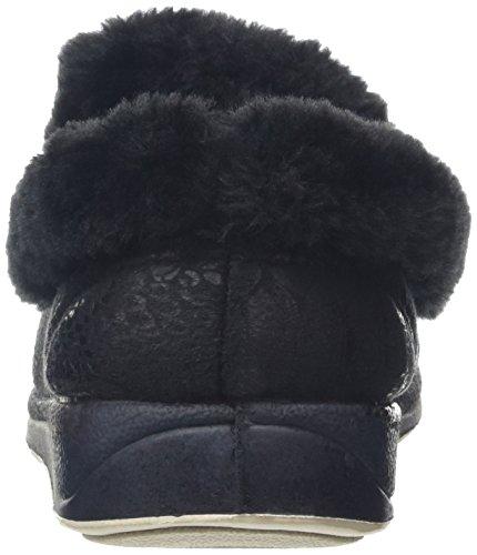 Padders Luxury, Chaussons Femme, Blacks Noir (56 Black)