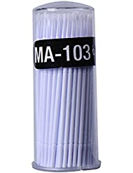 100 Stk. Microbrush Microbürstchen Reinigungsstäbchen Reinigungsstäbchen zur Minipinsel Wimpernverlängerung Zubehör Gelb/weiss/blau/grün