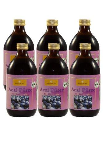 Bio Açaí Püree, 6 Glasflaschen je 500 ml