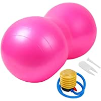 LHZHG Pelota de Gimnasia Cacahuete Forma Anti-Burst Balón Fitness Pelota cómoda Durable Adelgazar Ejercicio Gimnasio Rehabilitación Formación Bola de la Yoga para Mujer Hombres niños