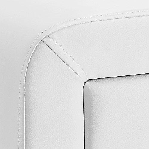 [corium] Mesilla de noche tapizada (2 colores) (50cm x 38cm x 37cm) Mesita de noche con 2 cajones y balda - Mesa auxiliar - mesa dormitorio