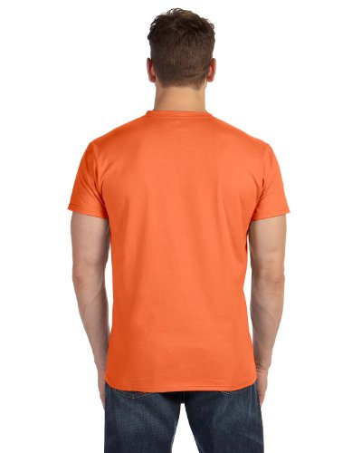 Hanes Mens Nano-T V-Neck T-Shirt Vintage Orange