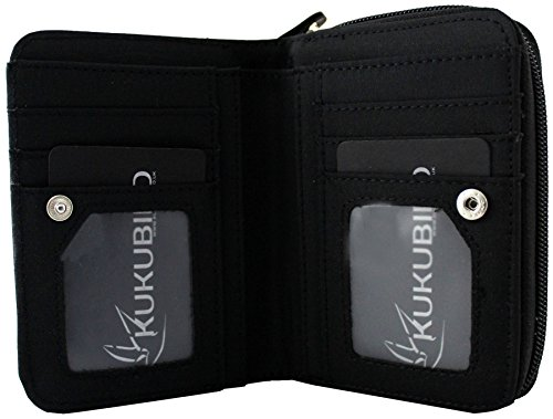 Kukubird nuove ragazze / Signore bassotto Medium fumetto disegni Purse Wallet Black