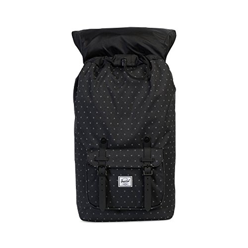Little America Backpack black gridlock black rubber
