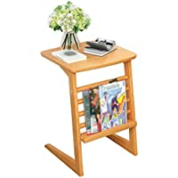 JH Revista Rack U Type - Sofá Cama Cabeza Side Table - Madera Maciza Continental Living Room Dormitorio Soporte Mesa De Café -H: 56cm ++ (Color : 1#)