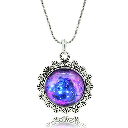 femmes-vintage-flowerlace-exotiques-lespace-modle-temps-pierre-gemme-pendentif