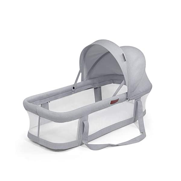 TINGYIN Portable Cot Multifunctional Removable and washable uterine bionic bed, Breathable mesh 100% cotton Baby Nest Bed, For bedroom and travel - Gray TINGYIN ★Adjustable Design: Suitable for 0-15Month. Comes with bag, Great baby shower gift. GROWS WITH YOUR BABY. Being adjustable, the side sleeper grows with your baby. Simply loosen the cord at the end of the bumpers to make the size larger. The ends of the bumpers can be fully opened. ★HEALTH & COMFY: hypoallergenic materials, breathable and non-toxic. We use 100-percent cotton fabric and breathable, hypoallergenic internal filler, which is safe for baby's sensitive skin. It will give your child serene, safe, and sound sleep in their lovely co sleeping crib. ★MULTIFUNCTIONAL AND PORTABLE. Use the infant nest as a bassinet for a bed, baby lounger pillow, travel bed, newborn pillow, changing station or move it around the house for lounging or tummy time, making baby feel more secure and cozy. The lightweight design and easy-to-use package with handle make our newborn nest a portable baby must-have. 1