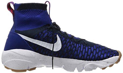 Nike Air Footscape Magista Flyknit, Chaussures de Sport Homme Bleu - Azul (Azul (Dp Ryl Bl/White-Drk Obsdn-Gm M))