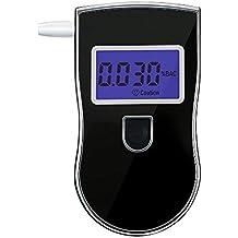 Alcoholímetro Digital, Pictek [2017 Actualizado] Probador Portátil de Alcohol, con Sensor Semiconductor, LCD Pantalla Grande, 5 Boquillas Desechables, Sensibilidad Alta