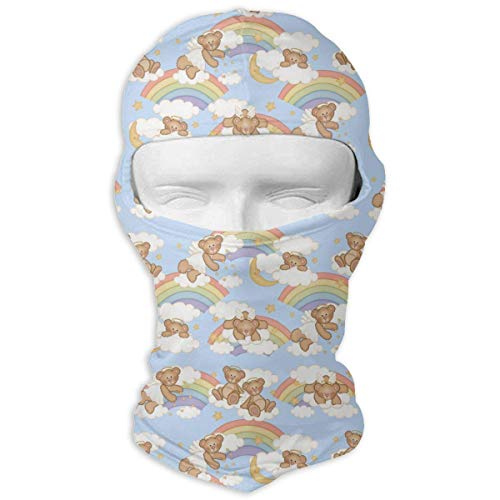 Sdltkhy Angel Bear Moon Star Rainbow Cloud Men Women Balaclava Neck Hood Full Gesichtsmaske Hat Sunscreen Windproof Breathable Quick Drying Multi Half Dome